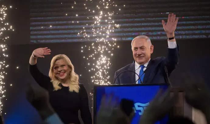 חדשות הבוקר/סקירות מקצועיות/תמונה של ראש הממשלה ביבי ושרה נתניהו