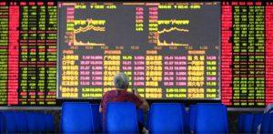 מסכי שוק המניות בשנחאי, סין
